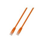 RJ45 Patchkabel U/UTP, Cat.6 0.5m orange, umspritzt - Artikel-Nr: K8100OR.0,5