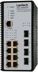 Switch 8x RJ45 10/100Mbit/s PoE Plus + 4x SFP Gigabit Port - Artikel-Nr: IPES-3408GSFP